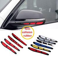 4Pcs Car Door Edge Rearview Mirror Guard Strip Protector Anti-collision Sticker