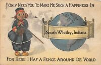 D90/ South Whitley Indiana In Greetings from Pennant Postcard World 1916