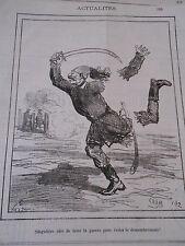 Typo Caricature 1877 - Le Turc démenbré !