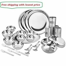 Stainless steel dinner set of 28 pcs With free shipping lowest Price india