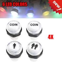 Black long start button White logo player 1 /& 2 micro switch American style