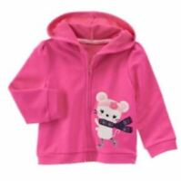 Gymboree Fair Isle Flurry Pink Mouse Hoodie 2-3T NWT