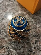 New listing Lovely Blue Crystal Faberge Egg