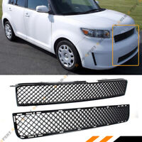 For 2008-10 Scion XB Badgeless Mesh Honeycomb Glossy Black Upper + Lower Grille