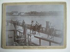Foto Kaisermanöver Kaiser Wilhelm & Ulanen Reiter Pferd Rhein Brücke Germersheim