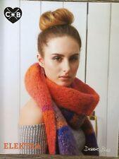 Debbie Bliss Knitting Pattern: Reversible Scarf, Conway + Bliss Elektra