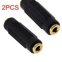 2PC Stereo 3.5mm Aux Female Jack Audio Coupler Headphone plug Adapter Converter