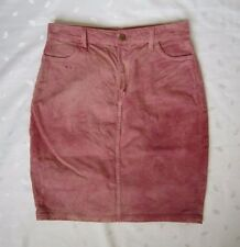 NWOT American Apparel High Waist Above Knee Washed Pink Denim Skirt ~ Size L