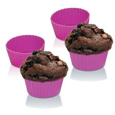 "Zeal Bake & Serve Large Silicone 3.5"" Muffin / Cupcake Cups / Cases - Set of 4"