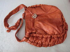 MARC ECKO RED HANDBAG: SUNKISS (ORANGE) HOBO/MESSENGER BAG