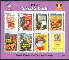 Guyana 1996 Donald Duck Movie Posters/Disney/Beetle/Insects/Birds sht s5763