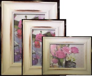 "Shabby Chic Ornate Vintage Photo Picture French Retro Set 3 Frames 10x8.7x5 6x4"""