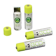 4x 1040 mAh 1.5v USB Rechargeable Cell Lithium ECO USBCELL AA Battery