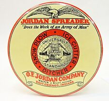 circa 1914 JORDAN SPREADER Railroad Train Snow Plow paperweight pocket mirror *
