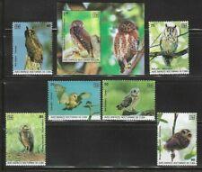 2019 Birds Owls Caribbean Island Spanish Antilles Mnh S/S Set