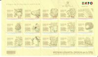 ITALIA  UNIVERSAL EXPO 2015 MILANO GREAT SHEET HIGH VALUE  MNH**   ITALY  CODICE