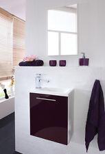 Badmöbel Waschplatz Alexo Waschtisch  mit Spiegel Gäste-WC Waschbeckenuntersch