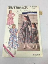 4405 Butterick Vintage Sewing Pattern Girls Dress Size 7-10