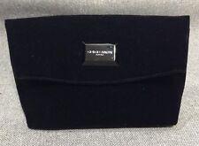 Giorgio Armani Perfumes Black Suede Foldable Clutch Purse Handbag NEW