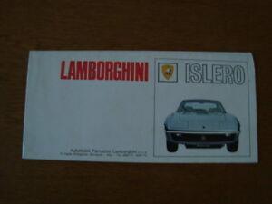 Lamborghini Islero fold out brochure