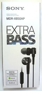 Sony MDR-XB50AP Extra Deep Bass Earbud Headset (Black)