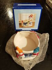 NEW IN BOX  St. Nicholas Square SNOW DAYS 12oz  DIP BOWL ONLY