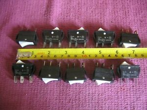 Collection of 10 Arcolectric C420 Panel Mounted Rocker Switch - Job Lot