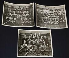1940's - JOHNNY PEARSON - AMATEUR HOCKEY AND FOOTBALL - PHOTOS (3) - ORIGINAL