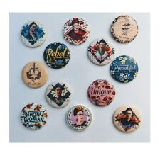 """New listing Lot of 12 1.25"""" Pinback Buttons Frida Kahlo (1¼"""" Pins, Approx. 32mm)"""