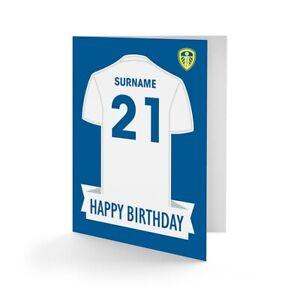 Leeds United F.C- Personalizado Tarjeta de Felicitación (Camisa)