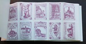 France – Booklet of Perigord Tourist Stamps (100) – 3 Colours -Complete UM (Se5)