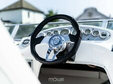 MÖWE Marine Boat Steering Wheel Havanna Leather Black For Sealine Teleflex