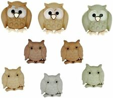 Jesse James Dress It Up Buttons Whoo Owls #5817 Sewing Crafts