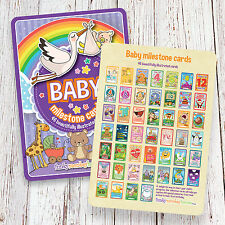 A5 Baby Milestone Cards • Baby Shower Gift • New Baby Gift • 46 cards