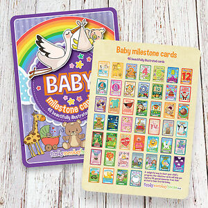 Baby Milestone Cards • Baby Shower Gift • New Baby Gift • 46 A5 cards