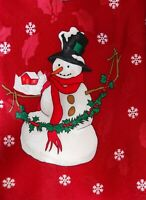 Hallmark Tie Holiday Traditions Snowmen Christmas Mens Necktie Novelty Red