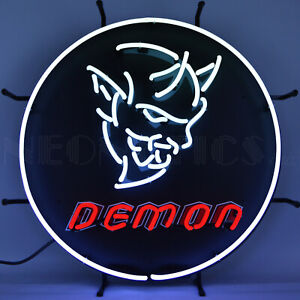 Dodge Demon Neon Sign Dad's Garage Wall lamp light SRt Devil Muscle Car 808 HP