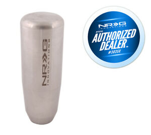"NRG 3.5"" Shaft Style Weighted Silver Shift Knob - 10x1.5mm for Acura, Honda"