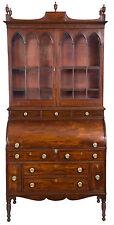 Swc-Rare Sheraton Mahogany Cylinder Secretary Desk, Seymour, Boston, c.1810