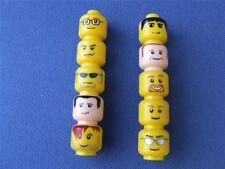 10 New lego City Town Minifig Minifigures Body Heads Bulk Lot Set # A