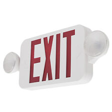 LED Exit Sign & Emergency Light – RED Compact Combo UL924 Fire Safety - COMBORJR