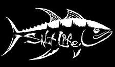 "SALT LIFE TUNA HUNT & SIGNATURE ""WHITE""  UV Rated Vinyl DECAL *FREE SHIPPING*"