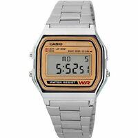 Casio A158WEA-9CF Men's Silver Classic Digital Bracelet Watch