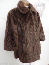 Beautiful Vintage Style 60's Faux Fur Animal Print Jacket Brown Sz 10 12