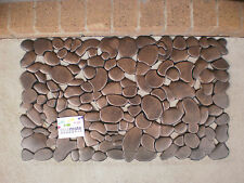 Pebble Pattern Natural Rubber Copper Finished Mat