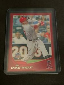 MIKE TROUT 2013 Topps Update Target Red Parallel #US300 Angels RARE CARD TO FIND