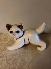 THUN Italian Ceramic Cat Figurine/Gold Ears