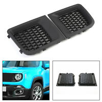 2PC L&R Front Bumper Grille Grill Insert Bezel Cover For  Renegade 15-18 T5