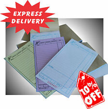 100  TRIPLICATE Large Restaurant Docket Books Carbonless Fast Delivery