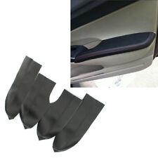 4PCS Leather Black Door Panels Armrest Covers For 06-11 Honda Civic Sedan